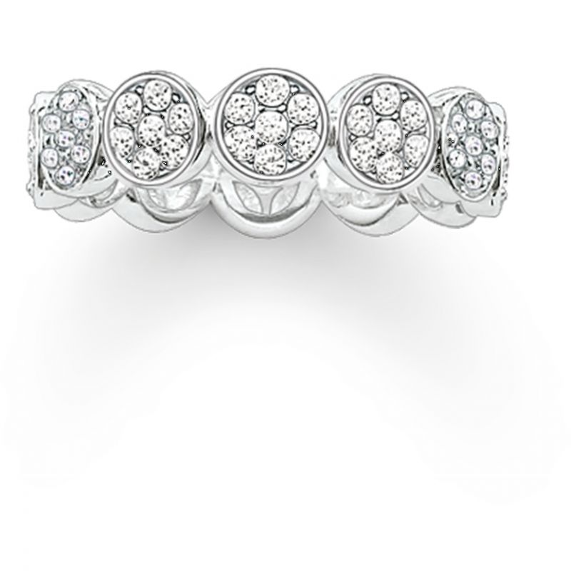 Ladies Thomas Sabo Sterling Silver Size Q.5-R Ring