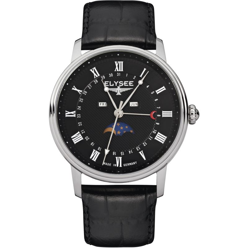 Mens Elysee Momentum Moonphase Watch