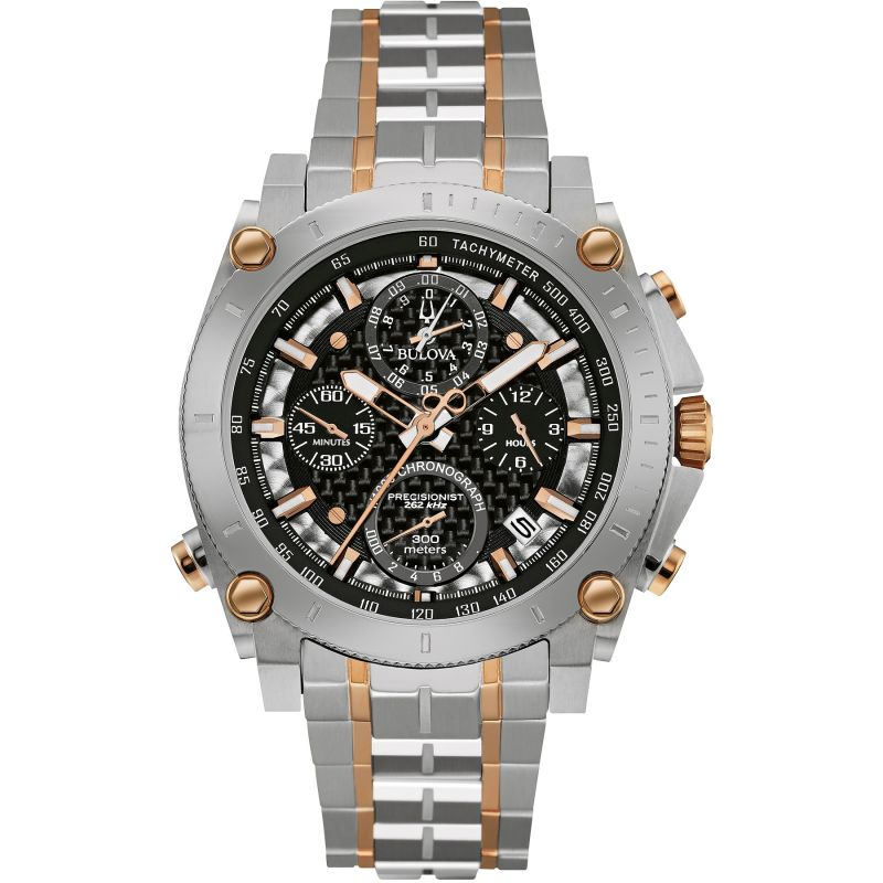 Mens Bulova Precisionist Chronograph Watch