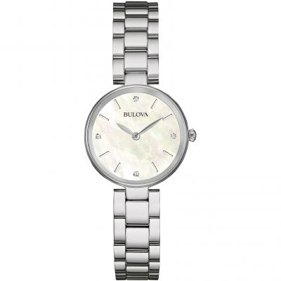 Ladies Bulova Diamond Gallery Watch 96S159