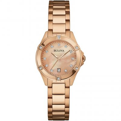 Ladies Bulova Diamond Gallery Watch 97W101