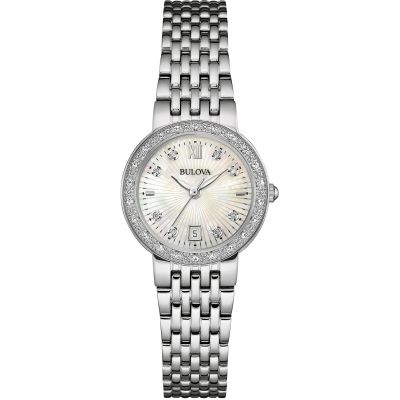 Ladies Bulova Diamond Gallery Watch 96W203