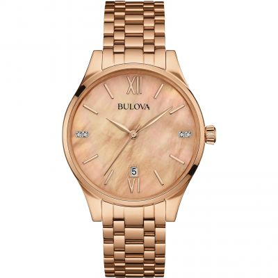 Ladies Bulova Diamond Gallery Watch 97S113