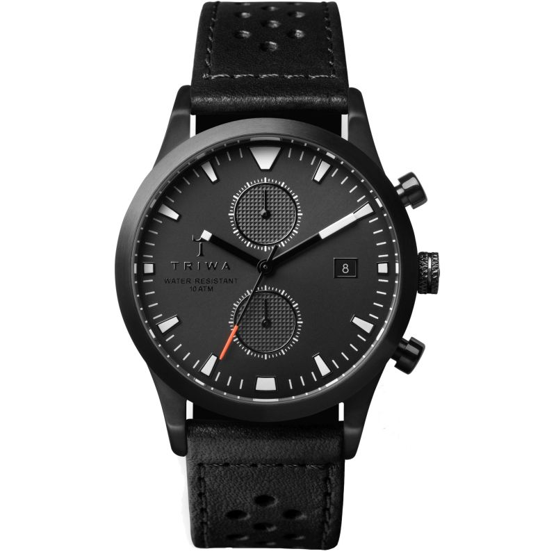 Mens Triwa Sort of Black Lansen Chrono Chronograph Watch