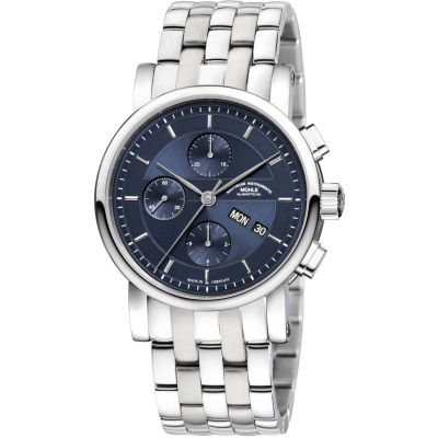 Mens Muhle Glashutte Teutonia II Automatic Chronograph Watch M1-30-92-MB