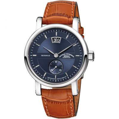 Mens Muhle Glashutte Teutonia II Grossdatum Chronometer Limited Edition Automatic Watch M1-33-76-LB
