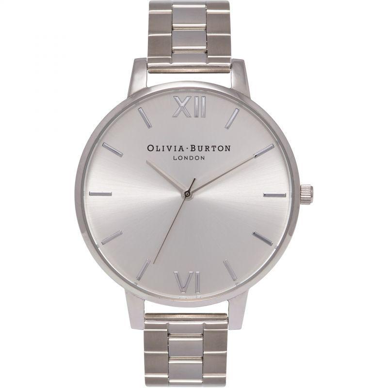 Big Dial Sunray Silver Bracelet Watch