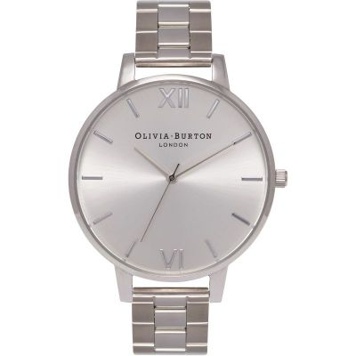 Big Dial Sunray Silver Bracelet Watch