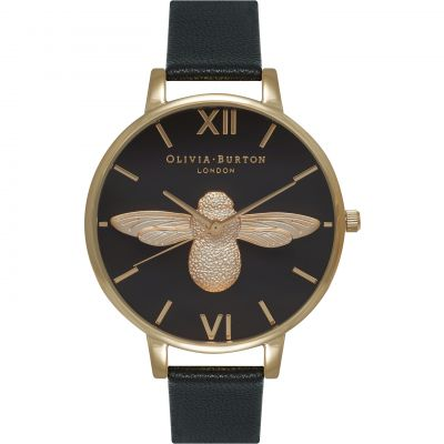 Olivia Burton Animal Motif 3D Bee Big Dial Dameshorloge Zwart OB15AM64