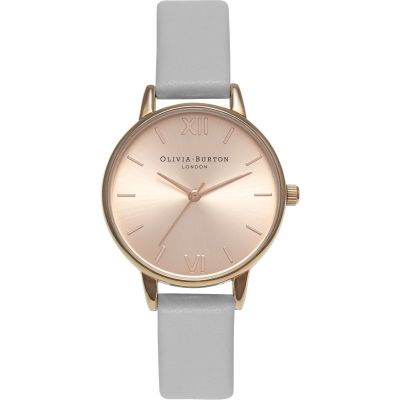 Montre Femme Olivia Burton Sunray Dial Rose Gold & Grey OB15MD46