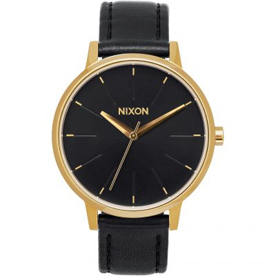 Nixon The Kensington Leather Dameshorloge Zwart A108-513