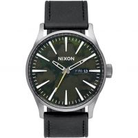 Mens Nixon The Sentry Leather Watch A105-2069