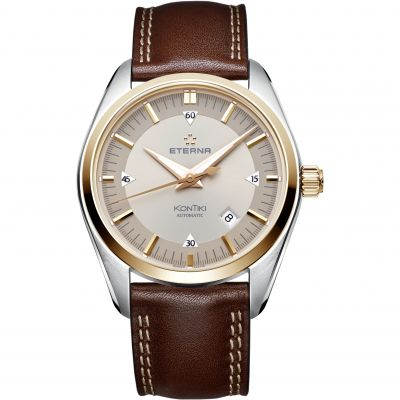 Mens Eterna KonTiki Date Automatic Watch 1222.53.51.1362
