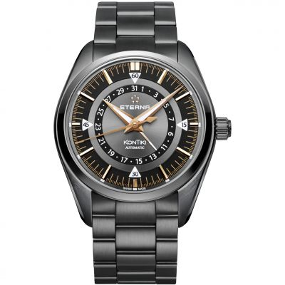 Mens Eterna KonTiki Four Hands Automatic Watch 1598.33.41.1722