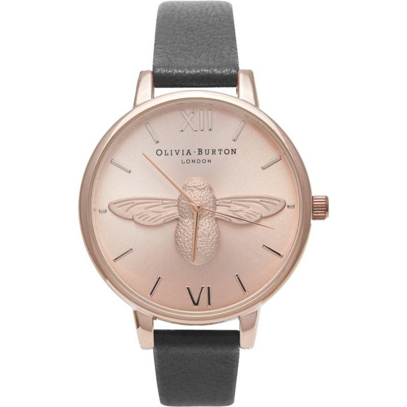 3D Bee Rose Gold & Black Watch