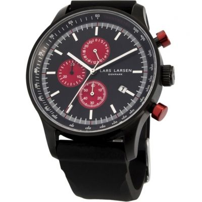 Mens Lars Larsen Chronograph Watch 133CBBS
