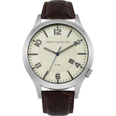 French Connection Herenhorloge Bruin FC1260TW