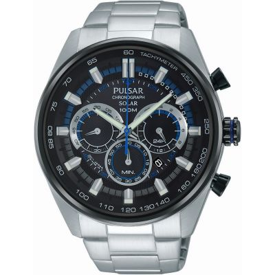 Mens Pulsar Chronograph Solar Powered Watch PX5019X1