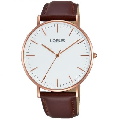 Lorus Herrenuhr in Braun RH880BX9