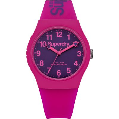 Superdry Urban Herrenuhr in Pink SYG164PV