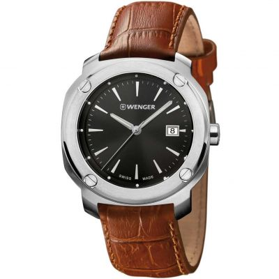 Wenger Edge index Herenhorloge Bruin 011141111