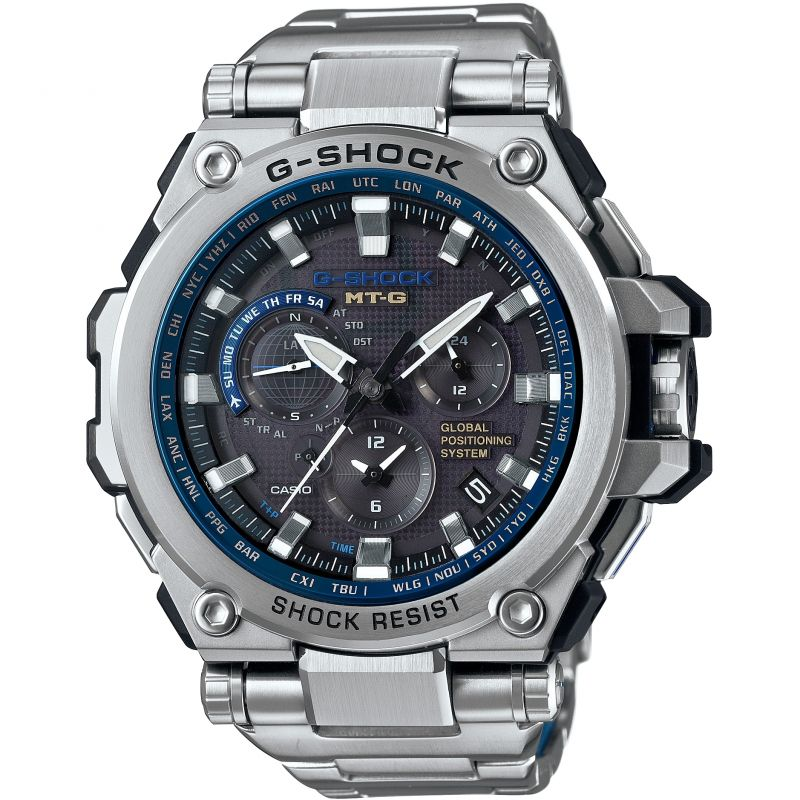 Mens Casio Premium G-Shock MT-G GPS Alarm Chronograph Radio Controlled Watch