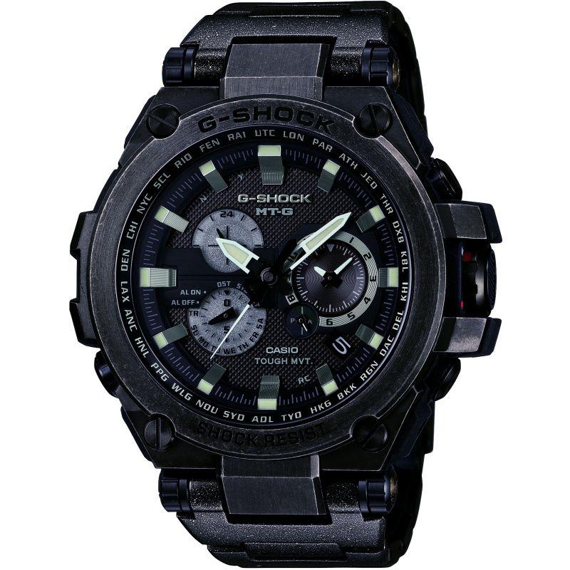 Mens Casio G-Shock Premium MT-G Aged Silver Alarm Chronograph Radio Controlled Watch