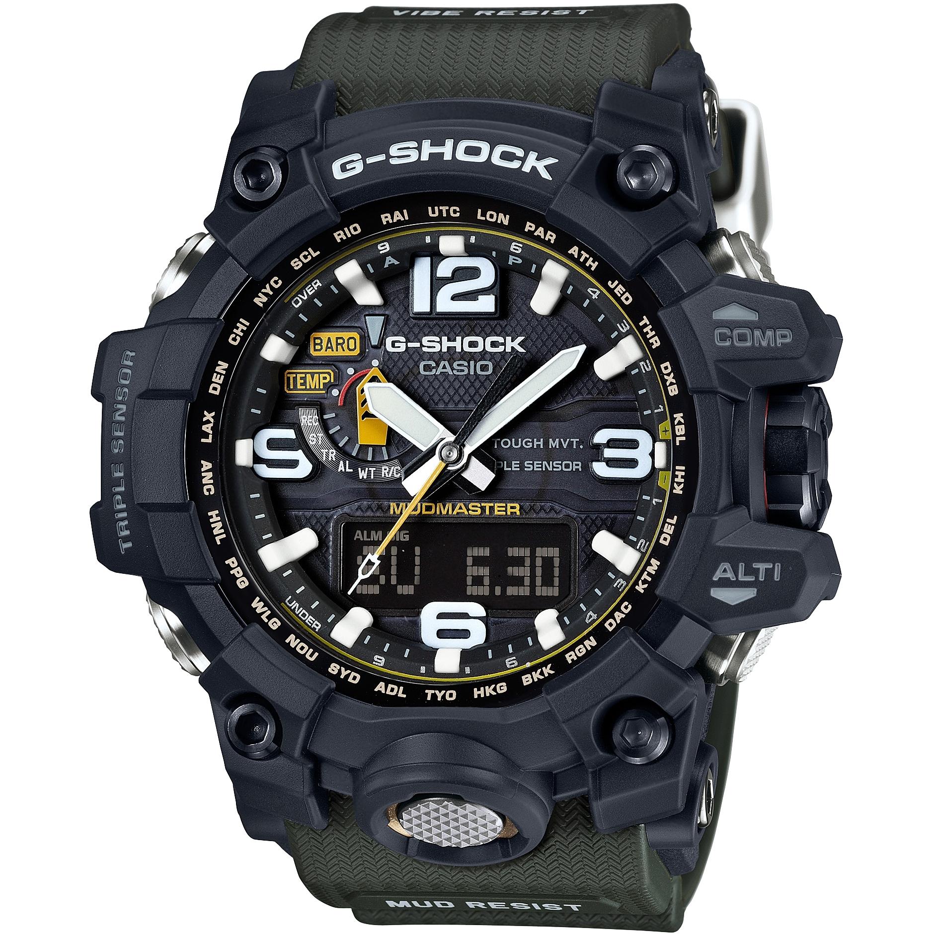 7399b8310 Gents Casio G-Shock Premium Mudmaster Compass Alarm Chronograph Watch  (GWG-1000-1A3ER)   WatchShop.com™
