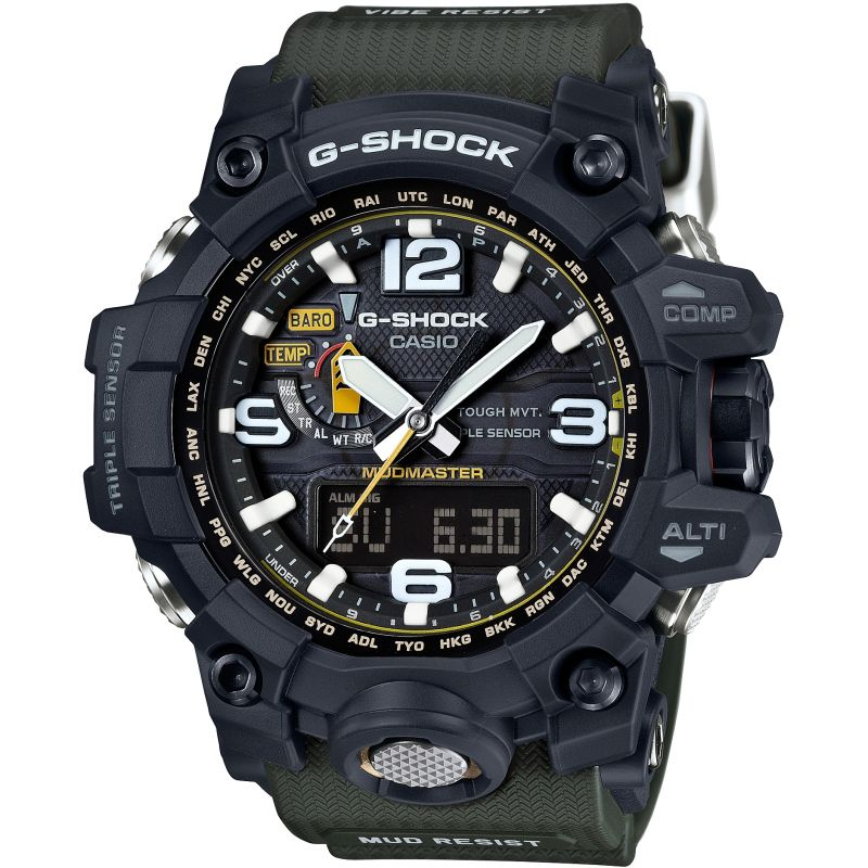 Mens Casio G-Shock Premium Mudmaster Compass Alarm Chronograph Radio Controlled Watch GWG-1000-1A3ER