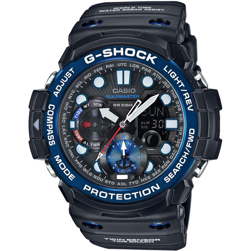 Mens Casio G-Shock Gulfmaster Alarm Chronograph Watch