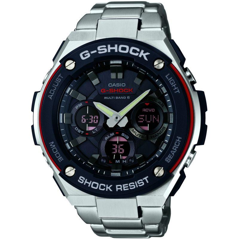 Mens Casio G-Steel Alarm Chronograph Radio Controlled Watch
