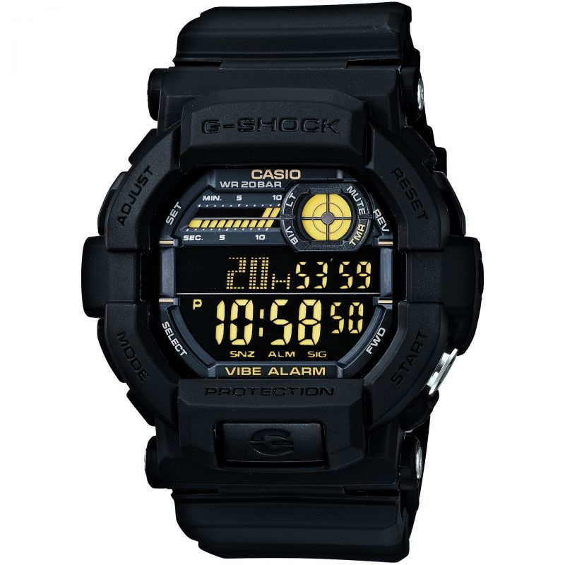 Mens Casio G-Shock Vibrating Timer Alarm Chronograph Watch GD-350-1BER