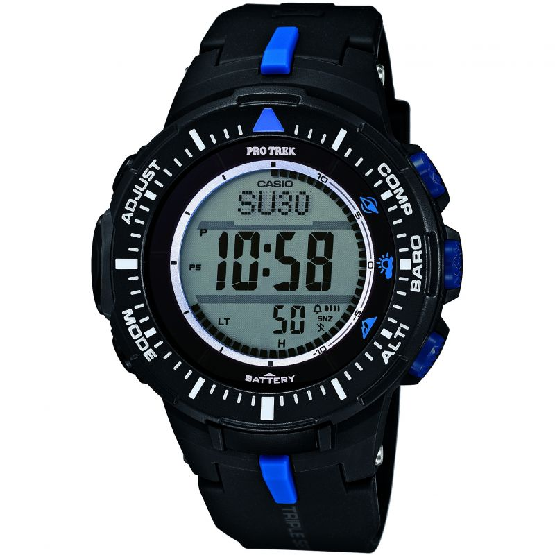 Mens Casio Pro-Trek Alarm Chronograph Watch PRG-300-1A2ER