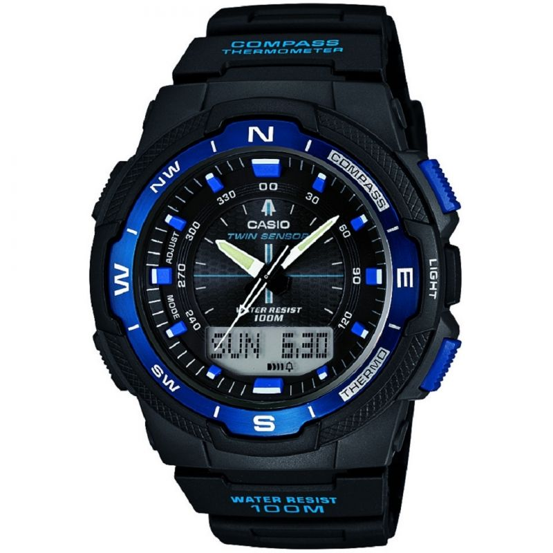 Mens Casio Sports Gear Compass Thermometer Alarm Chronograph Watch SGW-500H-2BVER
