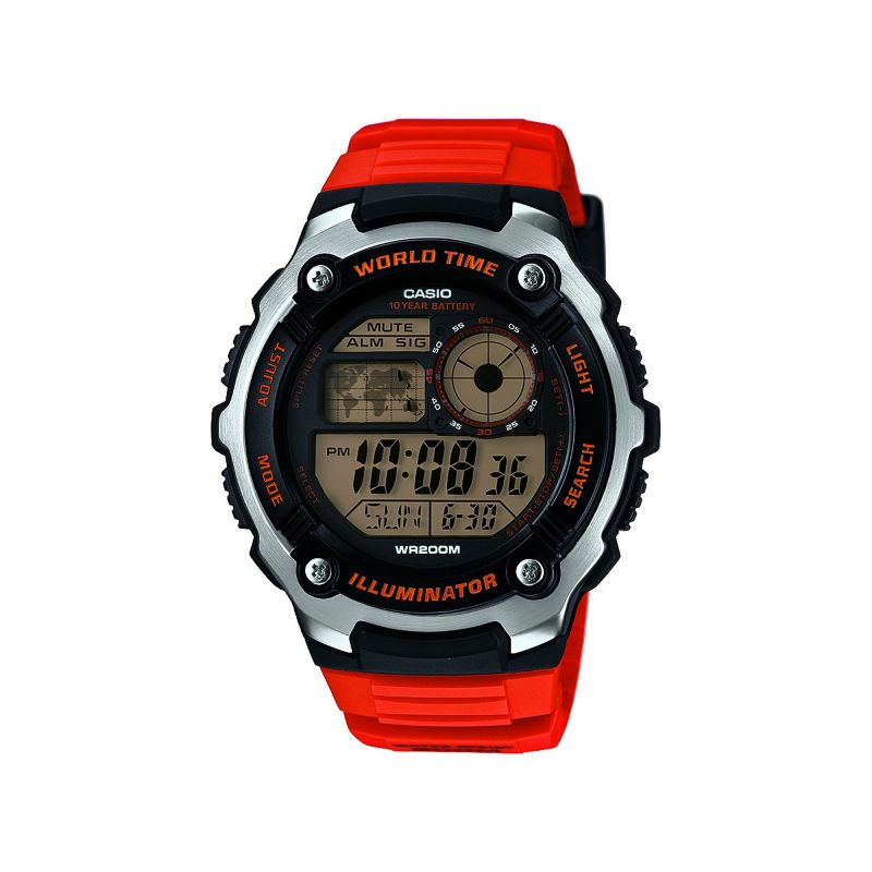 Mens Casio Sports Alarm Chronograph Watch AE-2100W-4AVEF