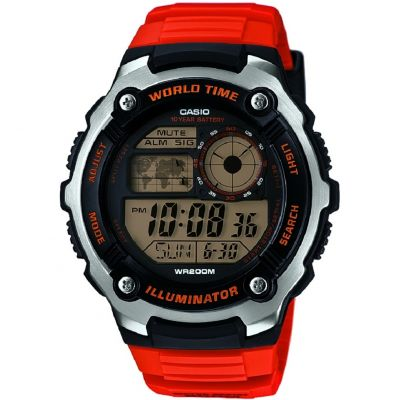 Casio Sports Herrenchronograph in Orange AE-2100W-4AVEF