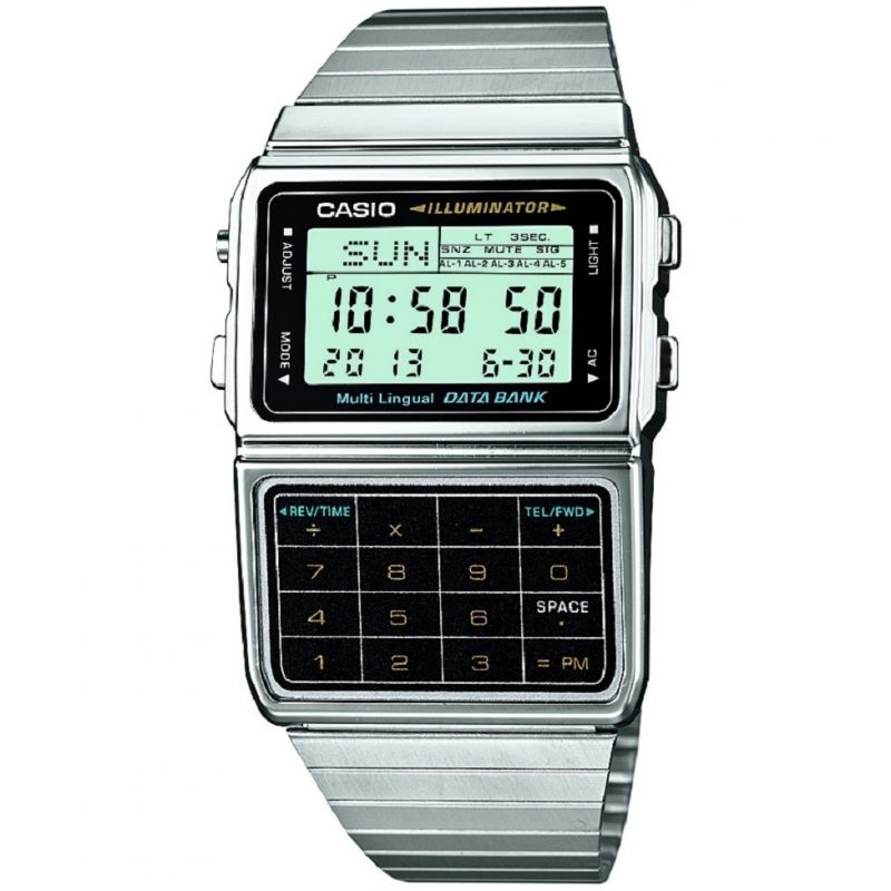 Unisex Casio Core Collection Databank Alarm Chronograph Watch DBC-611E-1EF
