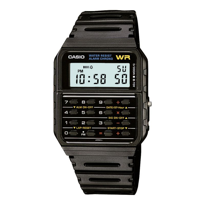 Casio Calculator Black Watch CA-53W-1ER