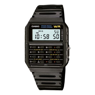 Casio Core Collection Calculator Unisexchronograph in Schwarz CA-53W-1ER