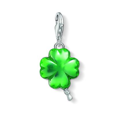 Damen Thomas Sabo Charm Club Balloon Cloverleaf Charm Sterling-Silber 1289-007-6