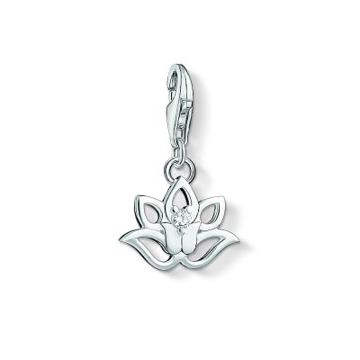 Thomas Sabo Dames Charm Club Lotus Charm Sterling Zilver 1300-051-14