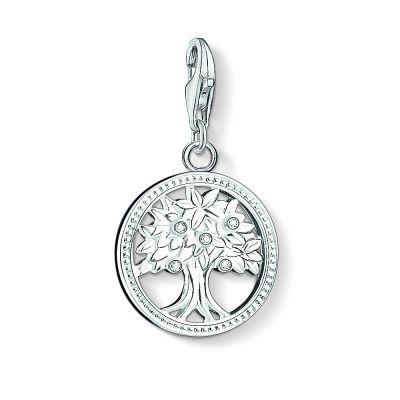 Thomas Sabo Dames Charm Club Tree of Life Charm Sterling Zilver 1303-051-14