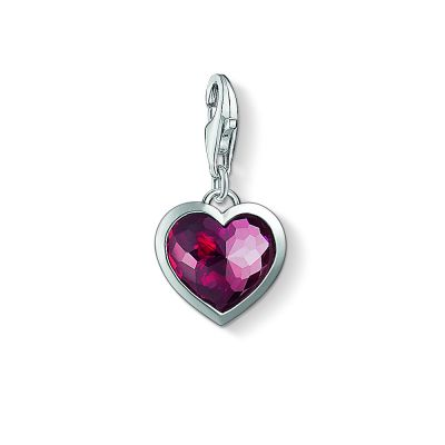 Ladies Thomas Sabo Sterling Silver Charm Club Heart Charm 1305-012-10