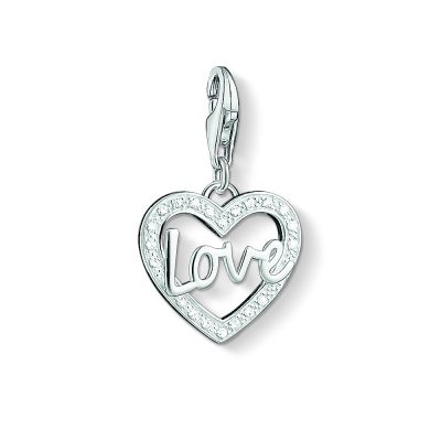 Thomas Sabo Dames Charm Club Love Charm Sterling Zilver 1310-051-14