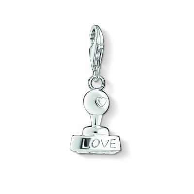 Ladies Thomas Sabo Sterling Silver Charm Club Love Stamp Charm 1312-001-12