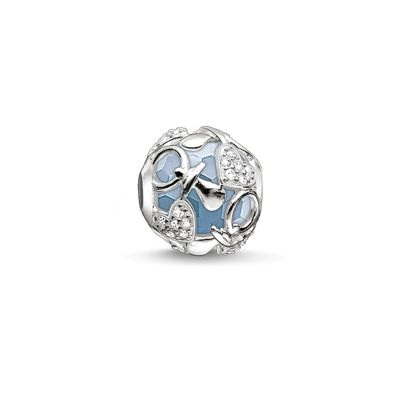 Thomas Sabo Dames Karma Bead Happy Baby Boy Bead Sterling Zilver K0158-843-31