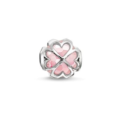 Thomas Sabo Dames Karma Beads Cloverleaf Rose Bead Sterling Zilver K0170-034-9