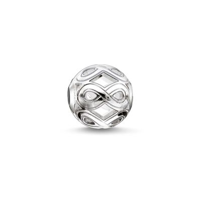 Ladies Thomas Sabo Sterling Silver Karma Beads Infinity Bead K0173-001-12