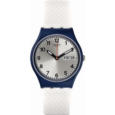 Swatch Original Gent White Delight Unisexuhr in Weiß GN720