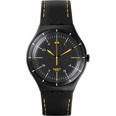 Swatch Irony Big Classic Herrenuhr in Schwarz YWB100